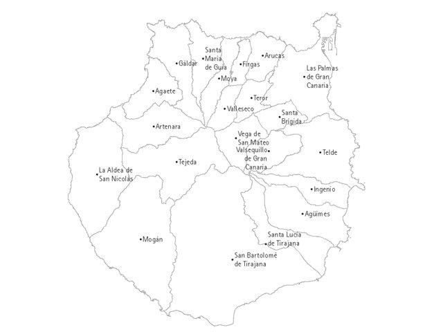 Mapa Municipios Gran Canaria.Municipios De Gran Canaria Canariasanuncia Com Guia De